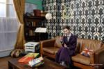 Missy plotting mischief at 221B - II by ArwendeLuhtiene
