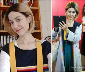 13th Doctor cosplay at HeroesComicCon - selfies by ArwendeLuhtiene