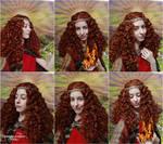 Goddess Brighid cosplay V -  Selfie merge by ArwendeLuhtiene