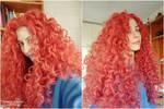 Merida cosplay WIP - Wig test II by ArwendeLuhtiene