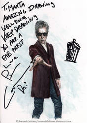 Doctor Who -Twelfth Doctor signed by Peter Capaldi