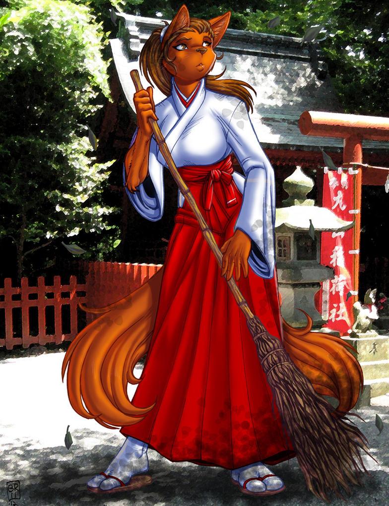 Shrine vixen by maxblackrabbit