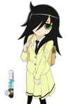 Watamote render HD Tomoko