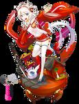 Render Anime Girl Animal Red