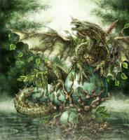 Earth dragon by echoskybound