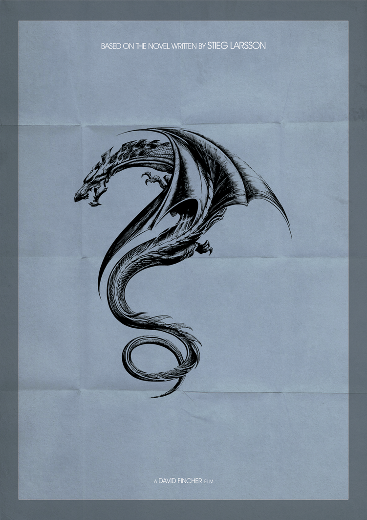 The girl with the dragon tattoo minimal poster by draganja for Minimal art tattoo