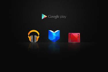 Google Play icons