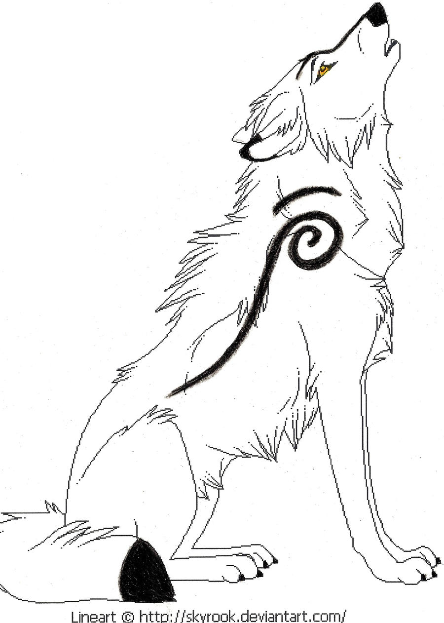 Wolves With Wings Drawings Howling