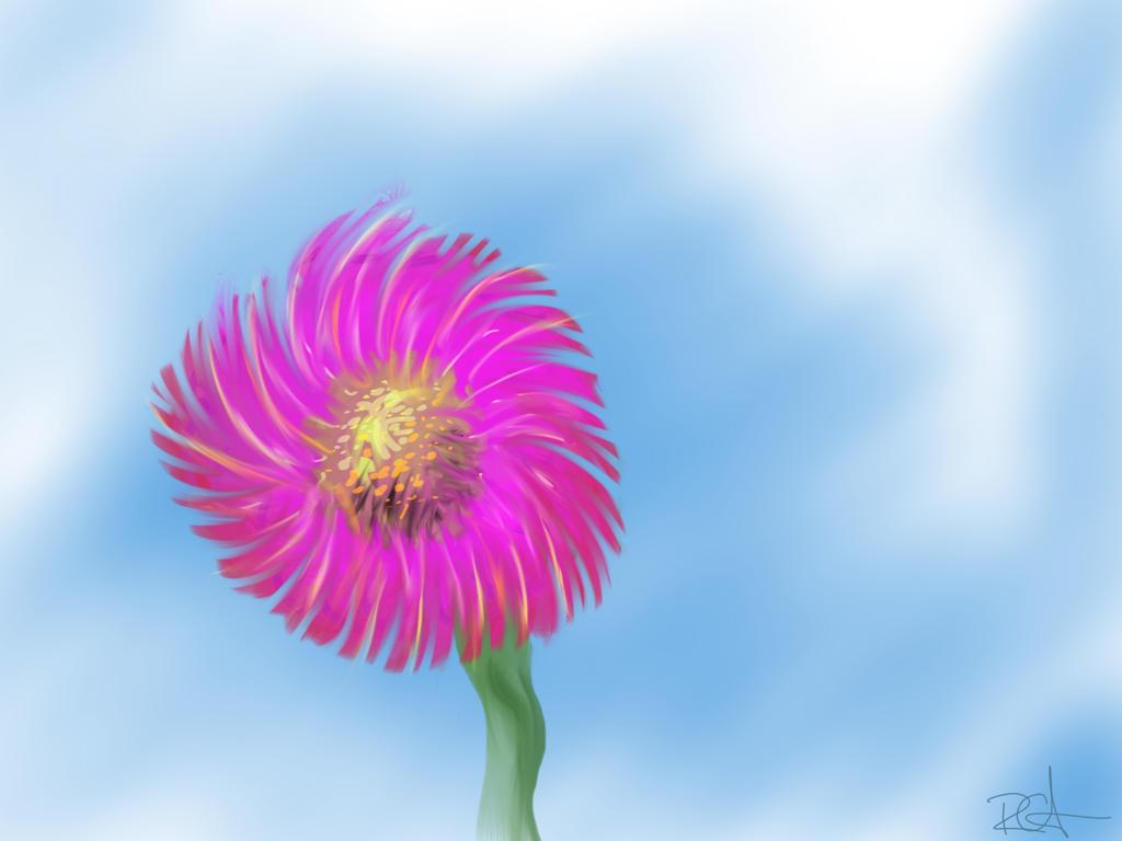 Alien flower by grymmjack