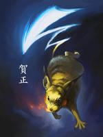 No. 25: Pikachu by real-pokemon