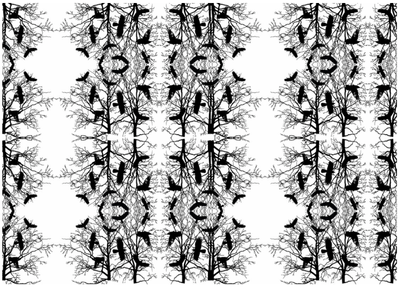 Pattern: Crows and Trees by Athena-P