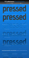 Pressed Letterpress Photoshop by lickmystyle