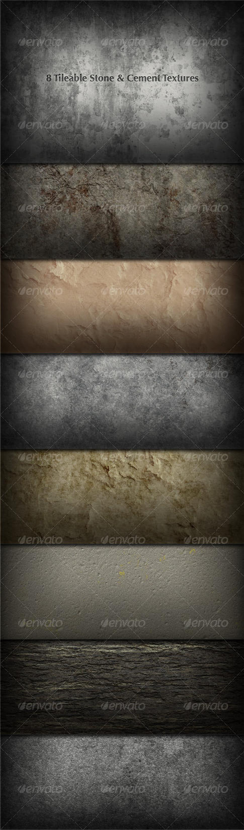 8 Tileable Stone-Concrete by lickmystyle