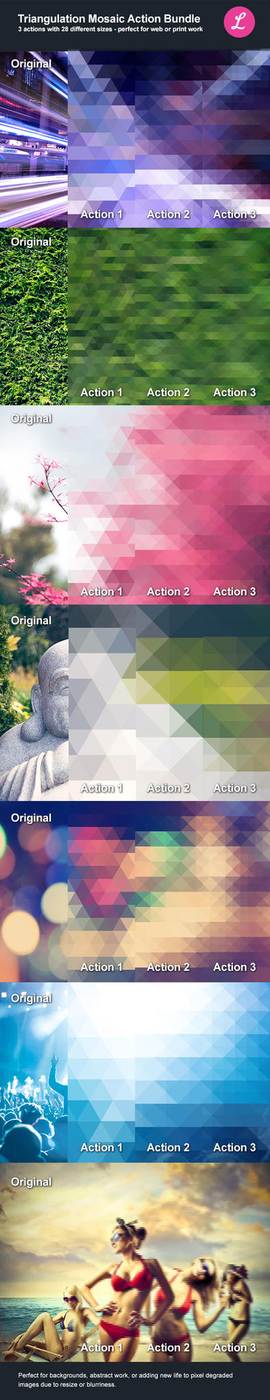 Triangulation Mosaic Bundle Actions by lickmystyle
