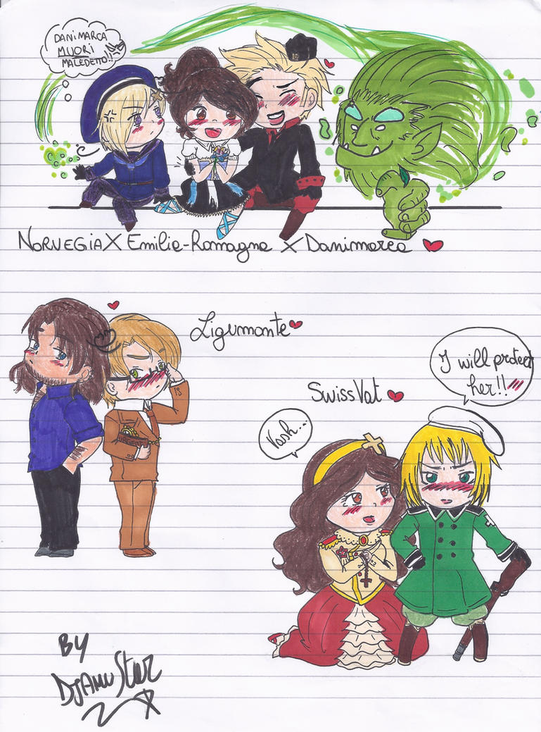 Hetalia FanCouples Chibi Part 5 by DjAmuStar
