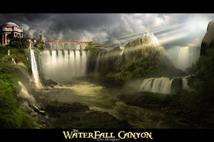 . :: The Waterfall Canyon :: . by uAe-Designer