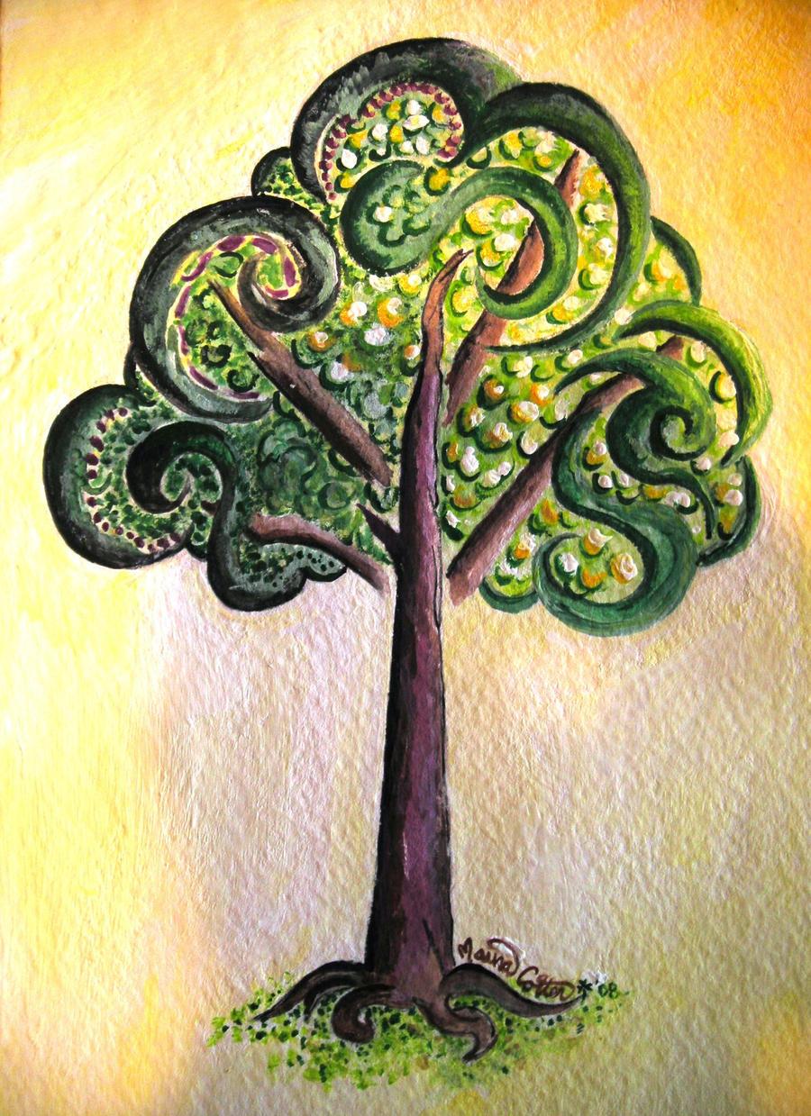 Tree of Irish Roots Close-up by MarsBars9