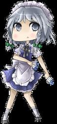 Chibi Sakuya by Lirinu