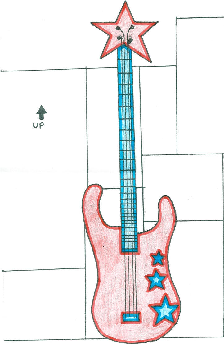 Guitar or Bass Drawing by EscapeTheFate1996 on DeviantArt