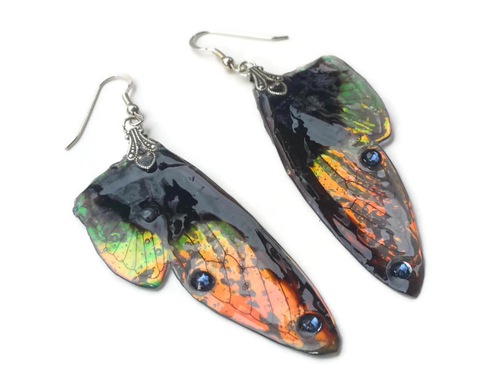 Enchanted Wood Fairy Wing Earrings by KristenJarvisART