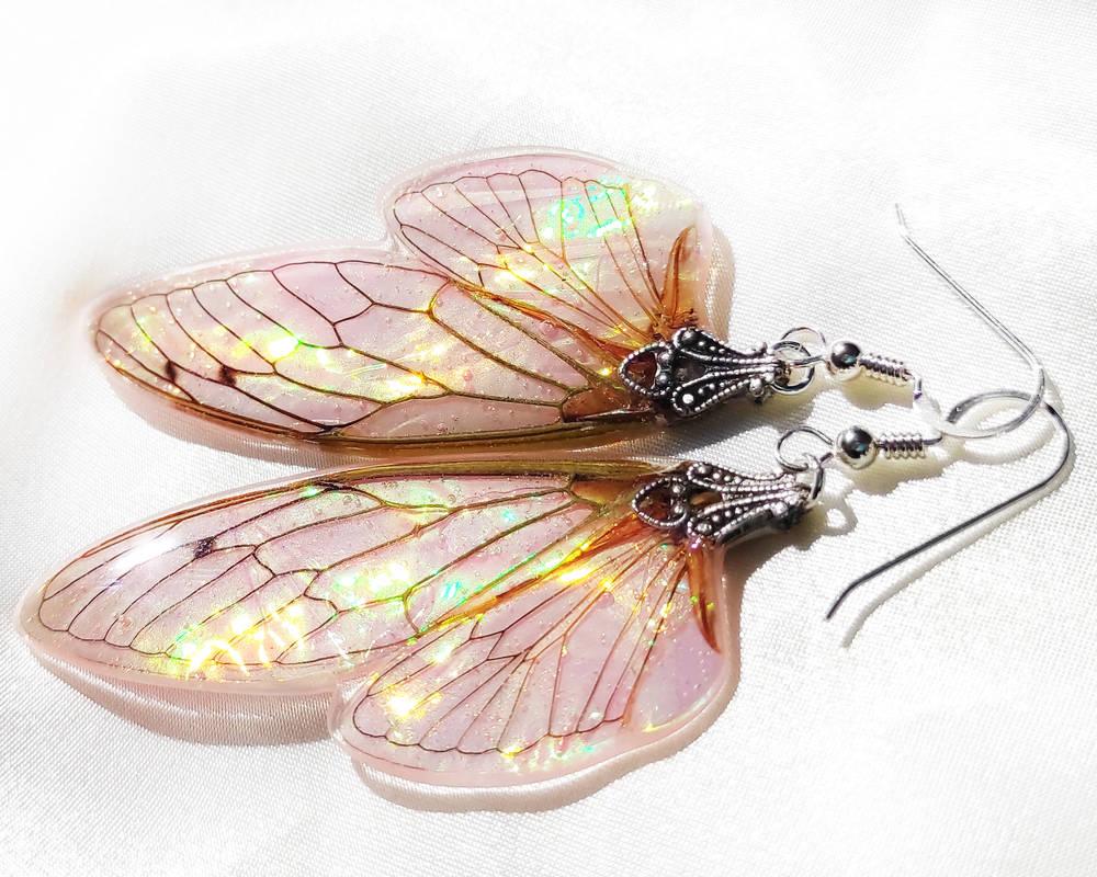 Fairy Wing Earrings - Sweet Peony