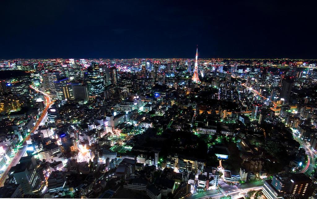 Tokyo Tower by night v.2 by matsunuma