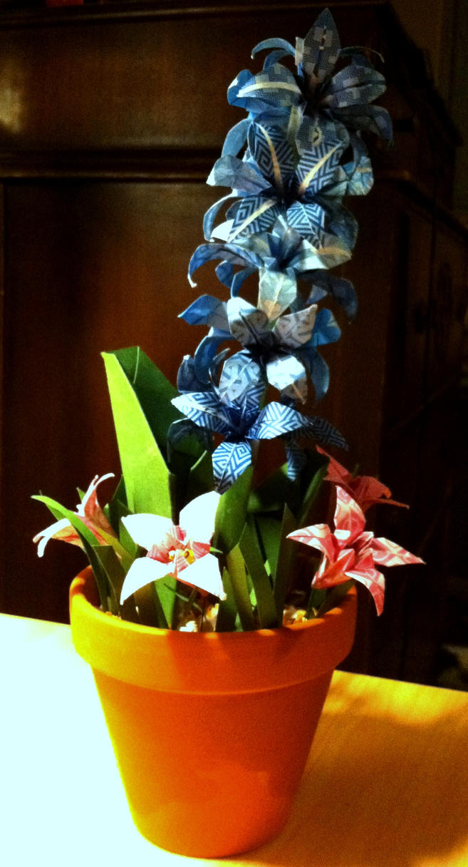 origami flowers for sale 1 open by thedragonsdomain on
