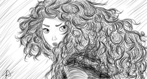 Merida Sketch by sazame-kusaka
