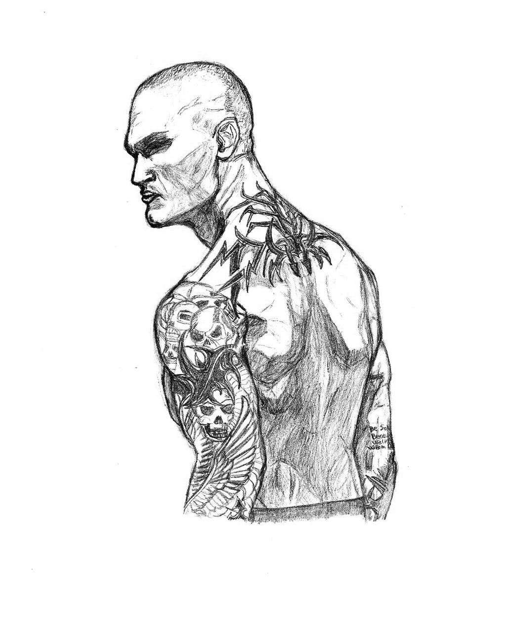 wwe coloring pages randy orton | Randy Orton by SilverLeon88 on DeviantArt