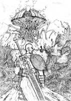 Kamahl vs Emrakul by SilverLeon88
