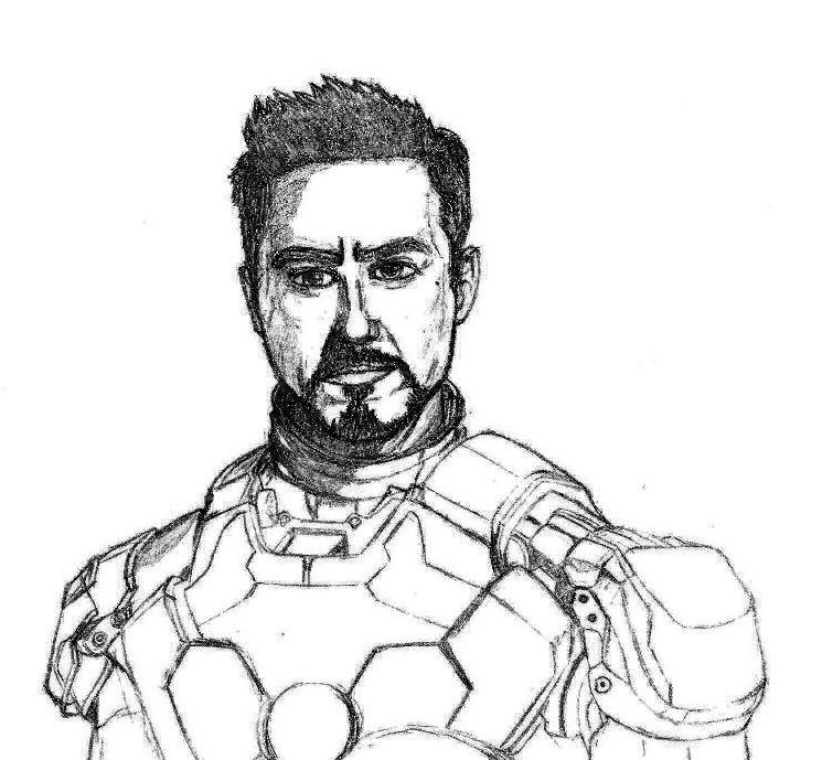 Tony Stark W.I.P. by SilverLeon88