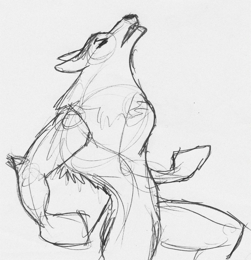 Werewolf howl by Davian714