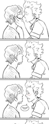 Kissing Pratice PG2 by BlitheFool