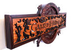 Wooden hand carved Game Of Thrones Logo