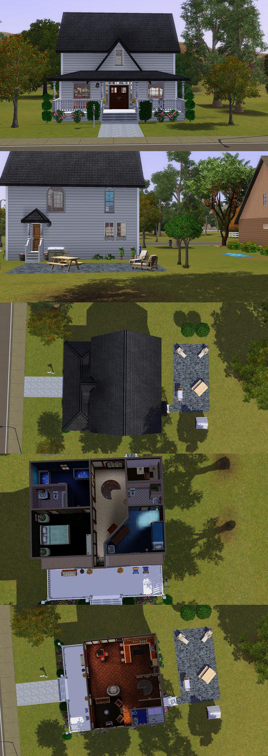 sims 3 caw1   southern cottage by prlunicorn on deviantart