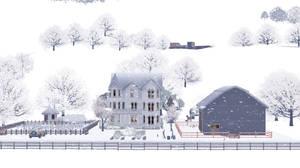 Queen Anne House in Winter