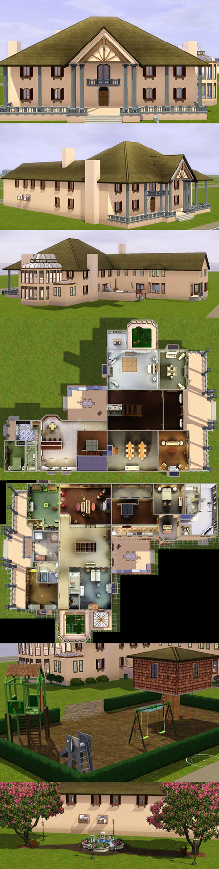 Sims 3 Based on Thistle Hill by PrlUnicorn