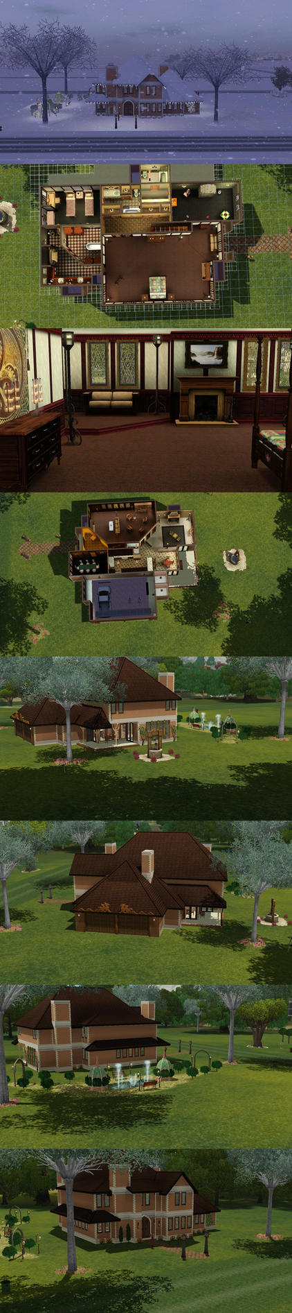 Sims 3: Dragon Valley Tudor 1 by PrlUnicorn