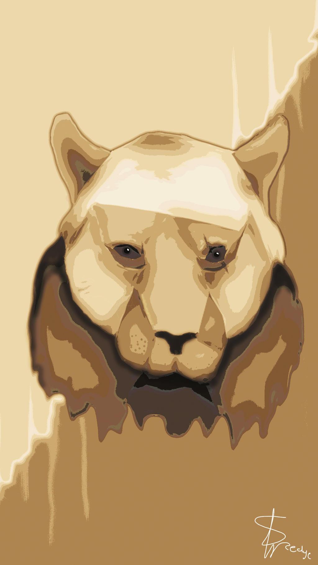 Bear or Tiger? samsung s6 wallpaper. by SedgeII