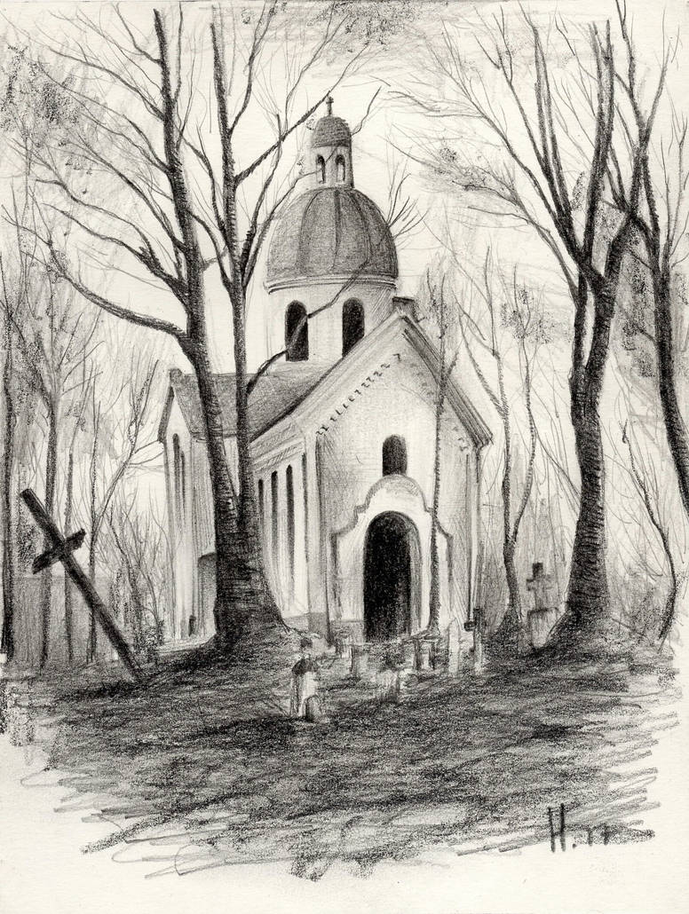 Graphite sketches church by ddesign91