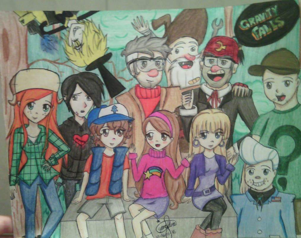If Gravity Falls Was An Anime By Froggylovescoffee On Dibujos Para