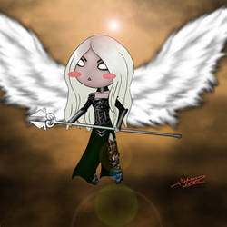 Avacyn, chibi angel of hope by sonikkuzahehizzogu