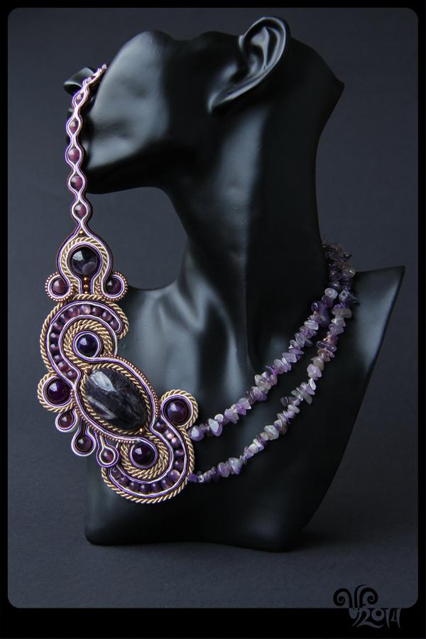 Amethyst necklace by ViKiV