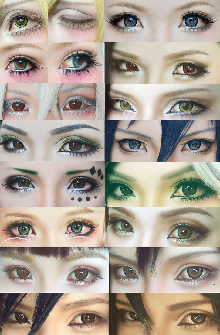 Cosplay eyes make up collection #4 by mollyeberwein