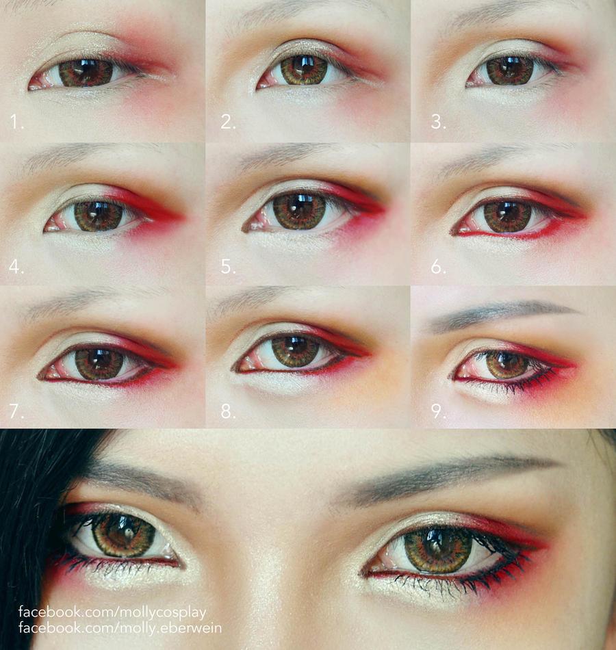 Как сделать глаза японскими 104