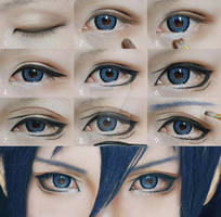 Cosplay Eyes Makeup Tutorial for Shonen