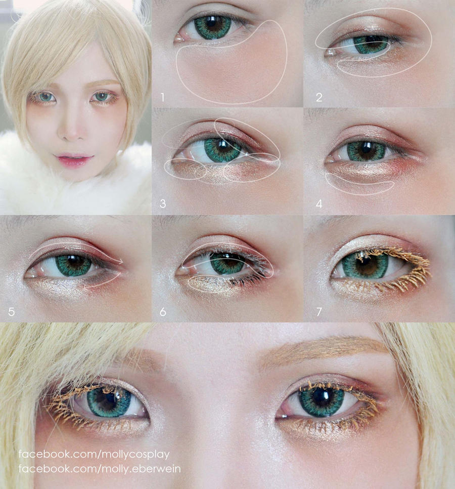 Cosplay Eyes Makeup / Dolly Eyes Makeup tutorial by ...