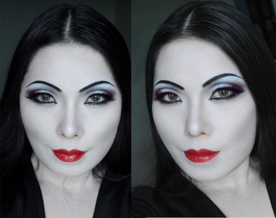 Morticia Addams makeup by mollyeberwein