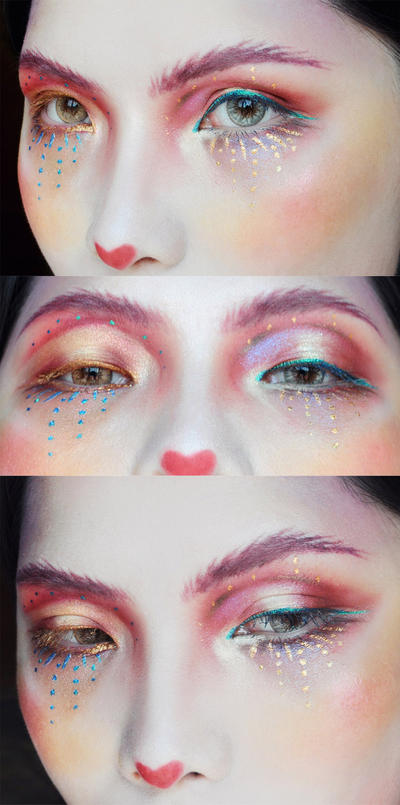 Red and Gold makeup by mollyeberwein