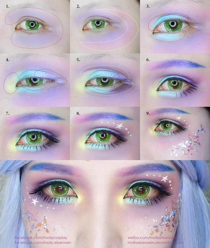 Mermaid Makeup Tutorial by mollyeberwein on DeviantArt